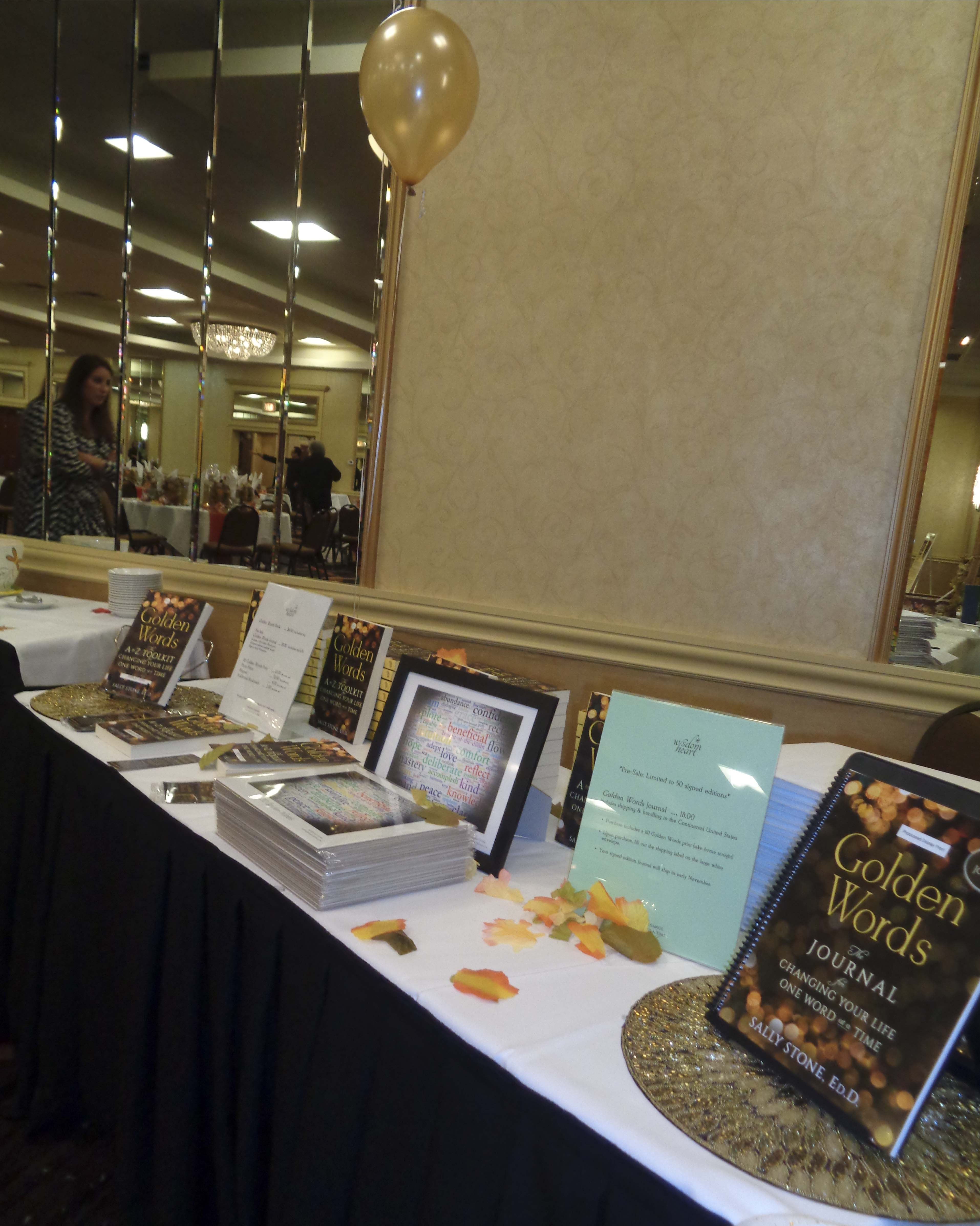 Little Company of Mary Keynote—Golden Words book display